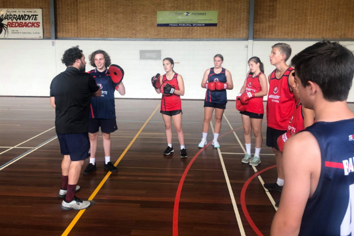 football and basketball at warrandyte high